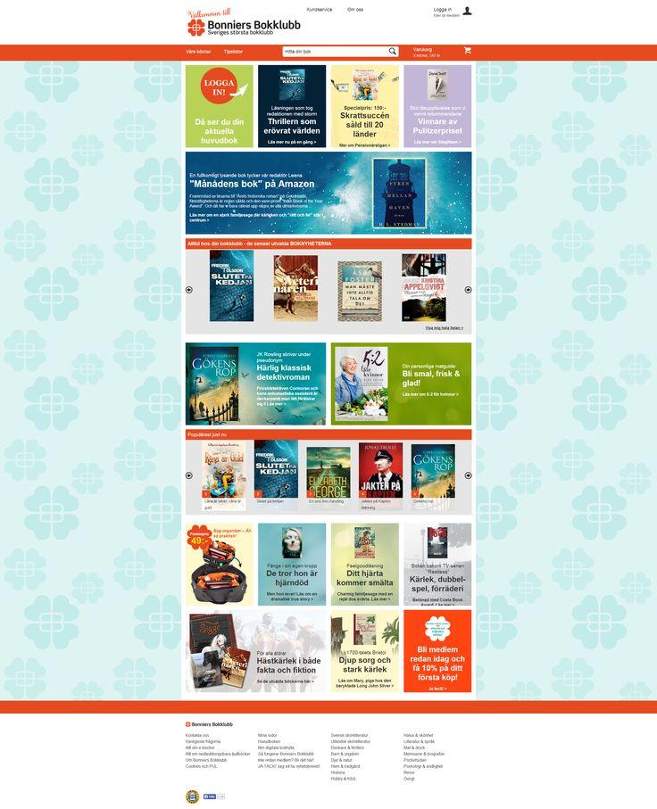 Responsive web page for Bonniers Bokklubb by Limetta. http://www.bonniersbokklubb.se/