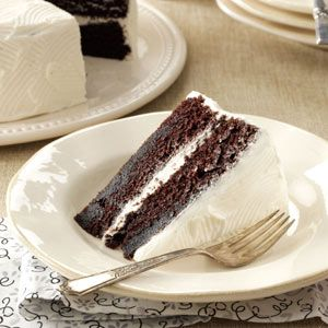 Moist Chocolate Cake Recipe from Taste of Home