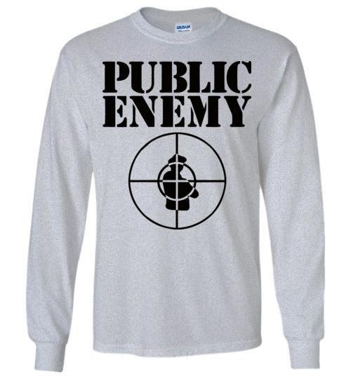 Public Enemy, Chuck D, Flavor Flav,Terminator X, Classic Hip Hop , v2, Black Print, Gildan Long Sleeve T-Shirt
