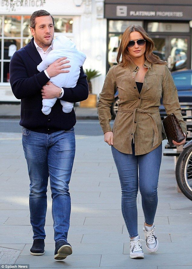 Like the perfect family: Sam Faiers enjoyed a low-key outing with boyfriend Paul Knightley...