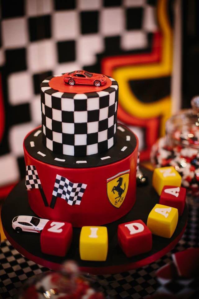 Ferrari birthday cake www.s-k-cakes.co.uk