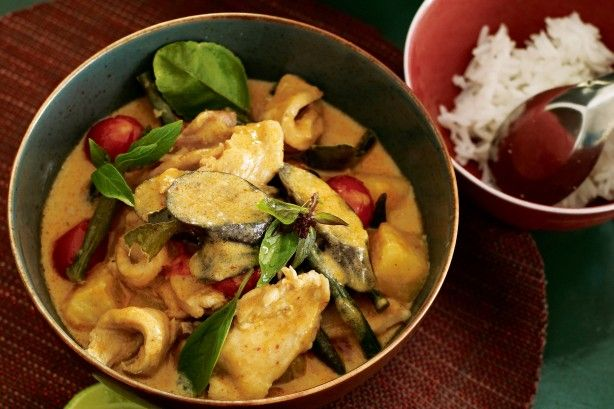 Red Curry Of Chicken, Ginger And Thai Basil Recipe