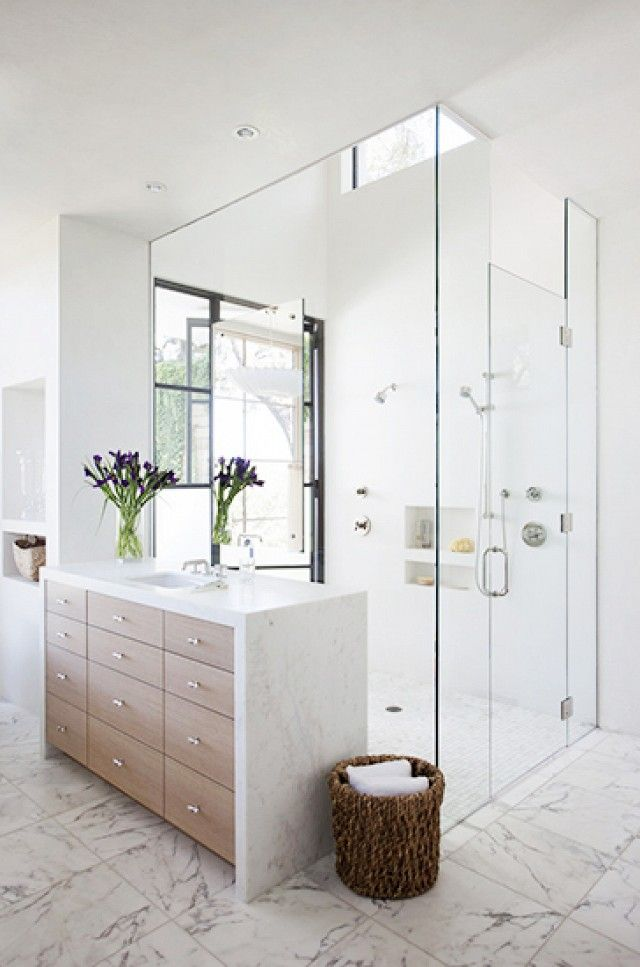 Home Tour: Tasteful and Timeless in Austin via @domainehome/ bathroom idea