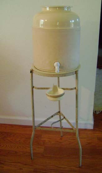 antique crock water cooler with stand vintage office water cooler stoneware water cistern crock with - Water Jug Dispenser