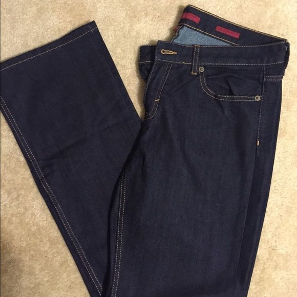 Women's dark wash jeans Banana Republic dark wash skinny boot cut jeans Banana Republic Jeans Boot Cut