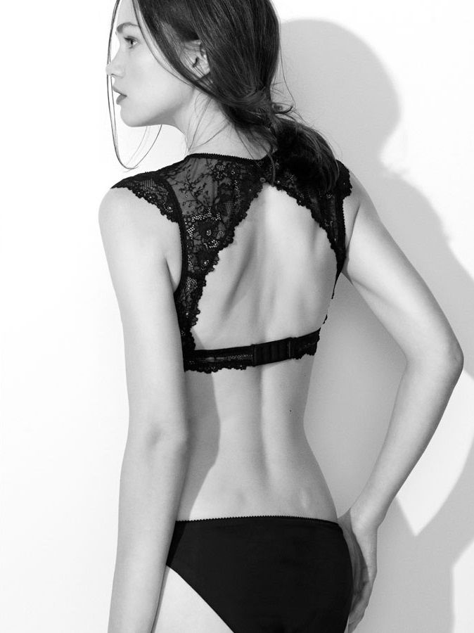 Oysho AW2013 - Floral Lace Bra and Thong