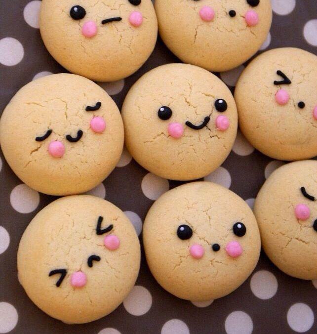 biscoitos com carinhas, comidas artísticas