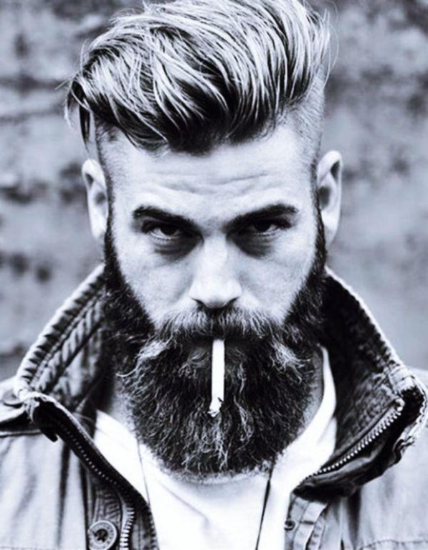 Bart rundes gesicht Frisuren für