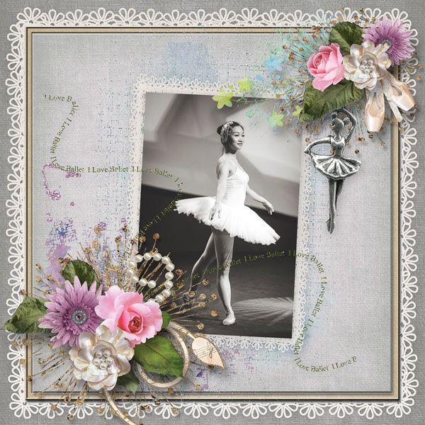 """En Pointe"" - Collection by Alexis Studio Design   http://www.thedigichick.com/shop/En-Pointe-Collection.html  save 67%  photo pixabay"