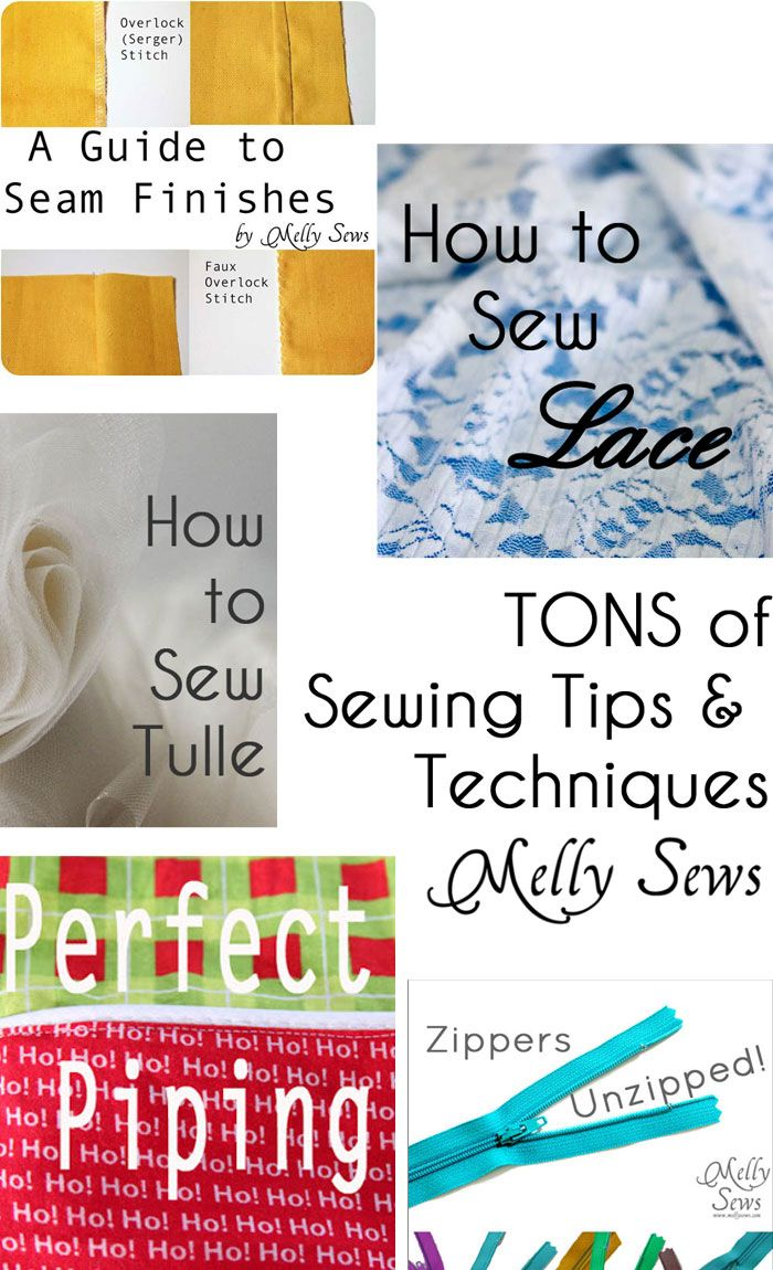 Tons of sewing tips and techniques - a great reference!