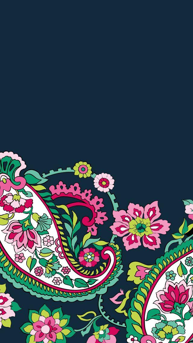 Dress your tech: Petal Paisley Mobile Wallpaper | Vera Bradley