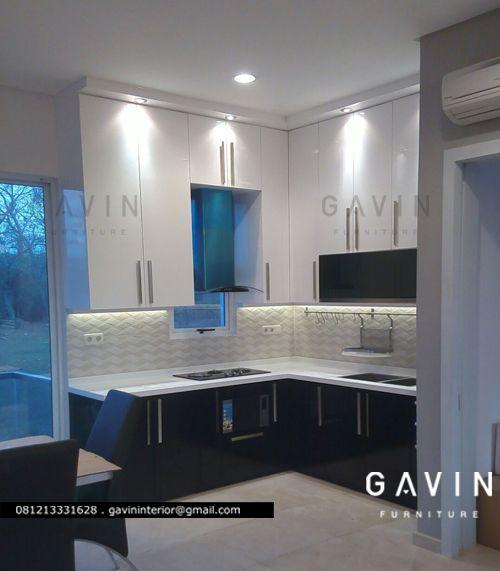 kitchen set minimalis duco piyu PIK Pantai indah kapuk