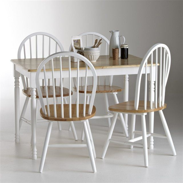 Ensemble table et 4 chaises windsor la redoute shopping for Ensemble table et chaise de cuisine blanc