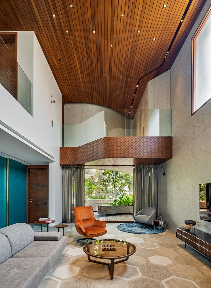 Gallery Of Badari Residence Cadence Architects 6 In 2020 Contemporary House Design Home Home Theater Rooms