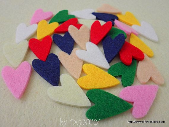 Die cut felt heart 32 pcscraft suppliesFelt shapesheart by DGNCY
