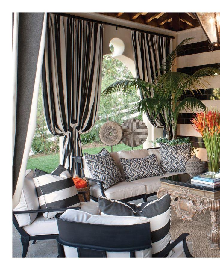 Stunning pool house living room by Jeff Andrews: Kris & Bruce Jenner's home (Interiors, Aug/Sept 2012, p.106-107)