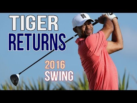 Tiger Woods Returns To Golf In 2016 | Driver Swing (slow mo)