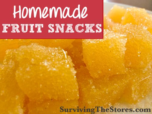 Easy homemade fruit snacks - 3 ingredients! (uses 100% juice type instead of boiling fresh fruits with lemon juice)