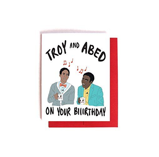 Troy and Abed Community Birthday Card