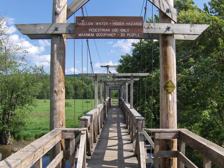 Walking Bridge, Appalachian Trail in Vernon, NJ