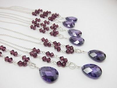 Purple Bridesmaids Jewelry - Custom OrderPurple Bridesmaid