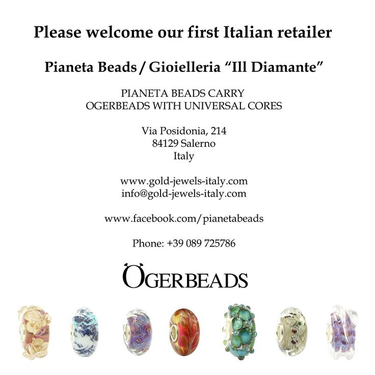 Ogerbeads with universal cores now available at Pianeta Beads!  https://www.gold-jewels-italy.com/it/beads/?cat=571