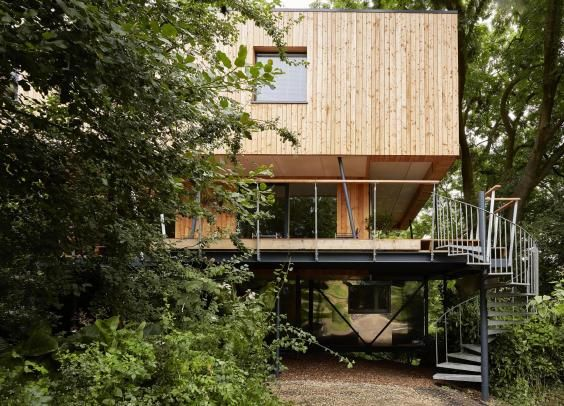 "Grand Designs  The ""big, proper, grown-up treehouse"" featured in the first episode of the new series 2016. Build in Dursley UK"