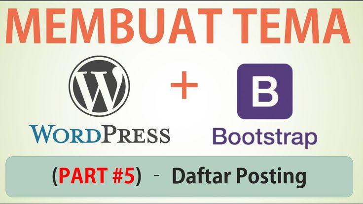 Membuat Desain Web dengan Bootstrap - Part #5 (Daftar Posting)