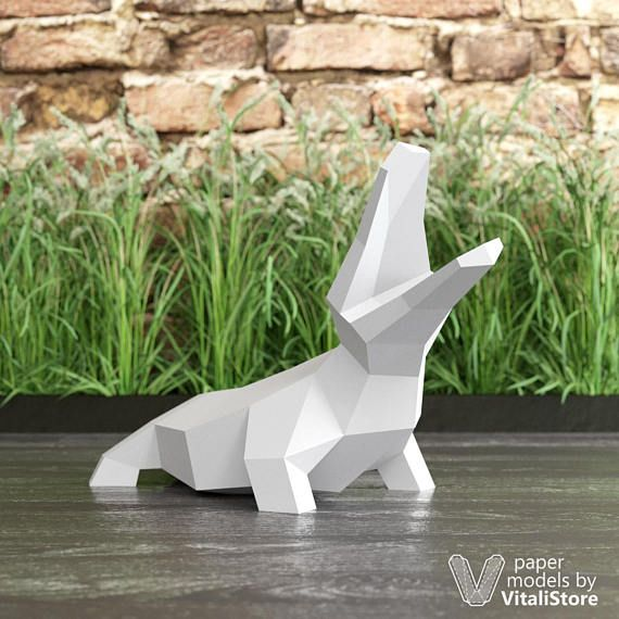 Papercraft Crocodile, Papercraft Reptile, DIY Gift, 3D Origami, PDF Template Make your own Crocodile paper sculpture for home decor. DIY with Instant download PDF template. You need to print template on a colored paper, cut poligonal parts, fold and glue it together. Its simple model and