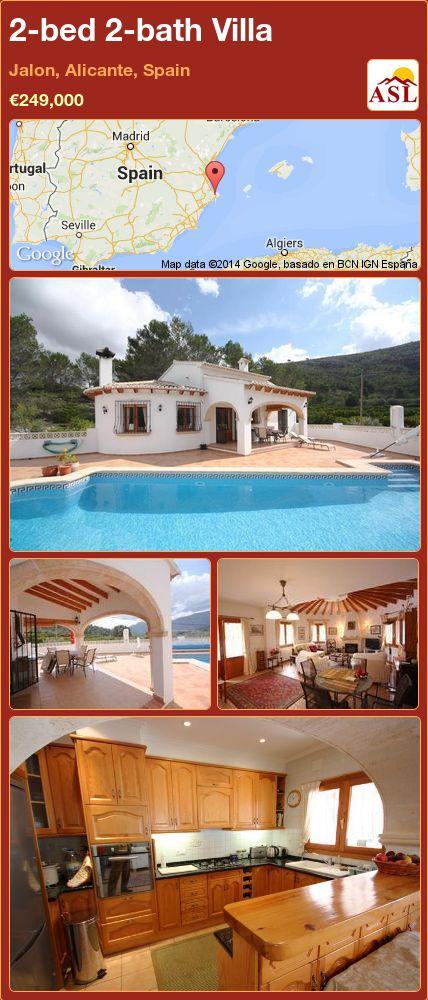 2-bed 2-bath Villa in Jalon, Alicante, Spain ►€249,000 #PropertyForSaleInSpain