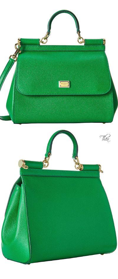 Dolce & Gabbana ~ 'Miss Sicily' Kelly Green Leather HandBag