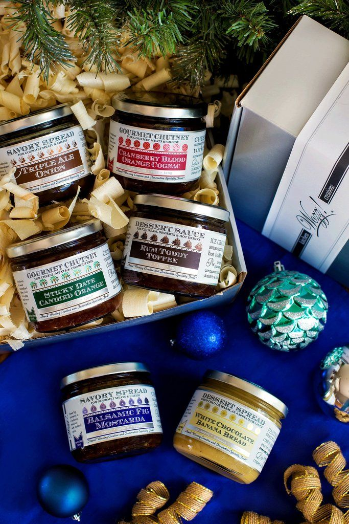 Christmas Condiments Gourmet Gift Box Wozz! Christmas Condiments Gourmet Gift Box is the quintessential holiday gift for the foodie. Each artisanally created condiment can be used in a variety of holi