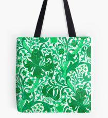 William Morris Iris and Lily, Jade Green Tote Bag