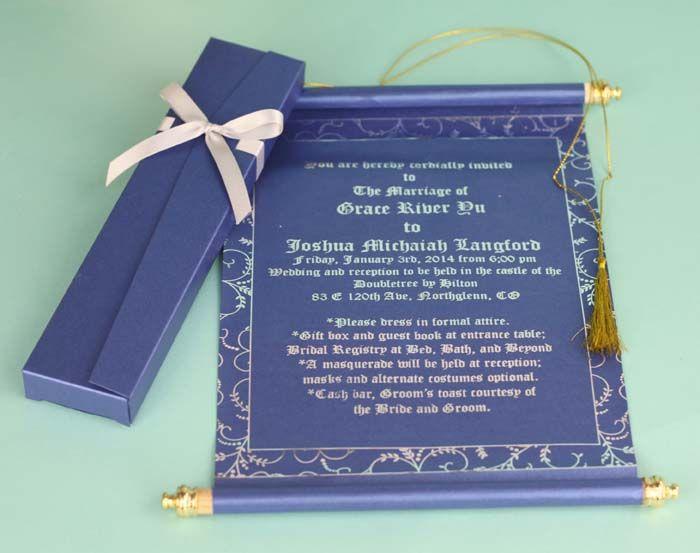 Best Wedding Invitations Cards: 23 Best Scroll Invitation Images On Pinterest