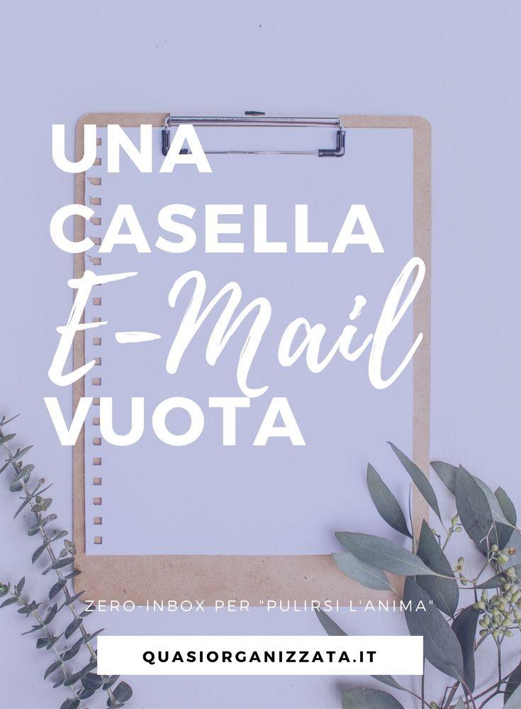 casella mail vuota | zero inbox | organizzazione | pulizia