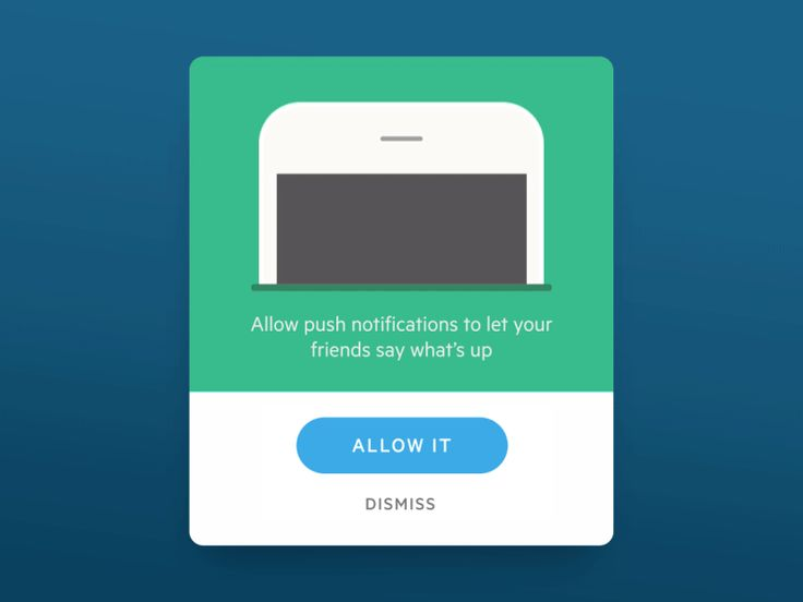 Mobile app notification animation
