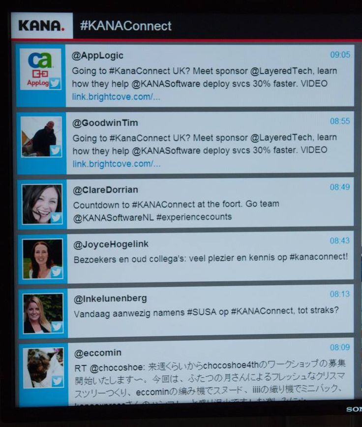 Tracebuzz twitterwall op Kanaconnect 2013