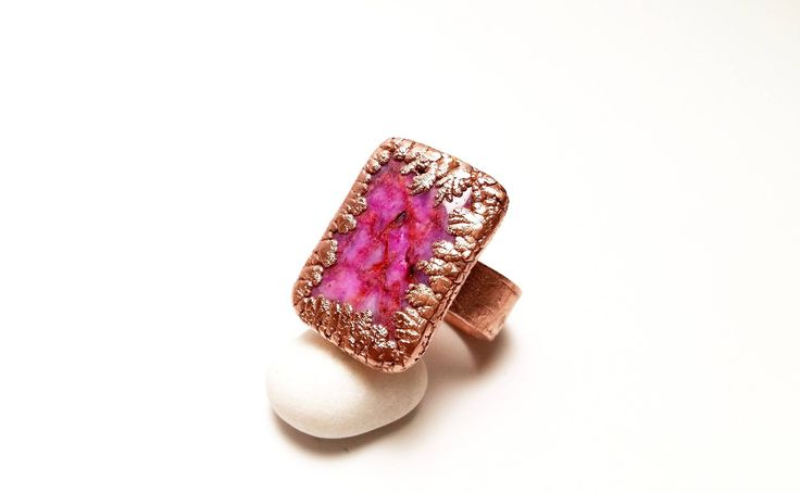 Excited to share the latest addition to my #etsy shop: Mauve Agate Copper Ring Electroformed Copper Ring Copper Ring with Purple Agate Mauve Copper Jewelry Statement Ring Crazy Lace Agate Ring #jewelry #ring #pink #purple #copper #copperring #mauvering #purplering #pinkring http://etsy.me/2zwheQl