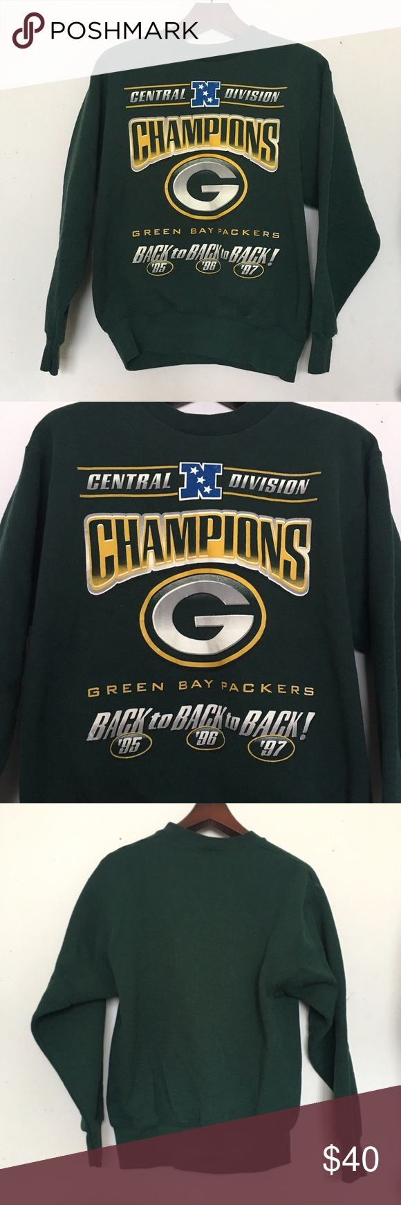 Vintage Green Bay Packers Sweatshirt Green Bay Packers football division championship sweatshirt! In near perfect condition for a 20 year old sweatshirt. Size Small. Vintage Other