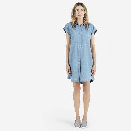 The Short Sleeve Shirt Dress - Everlane