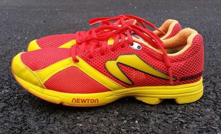 NEWTON Men's Sneakers Running Trainers Long Distance S Red Yellow Shoe 9 42 $149 #NEWTON #RunningCrossTraining