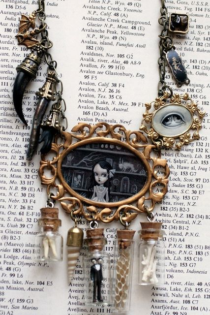 The Cabinet of Curiosities necklace, by Mab Graves.