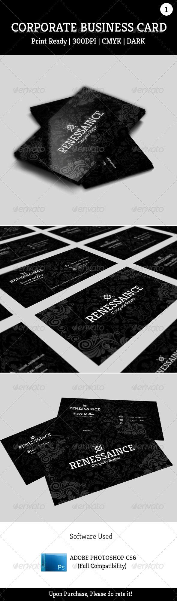 Corporate Business Card 001 - Corporate Business Cards