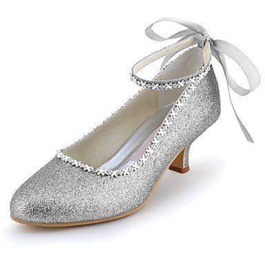 Elegantpark Femmes PU Bout Rond Scintillant Bride Cheville Ruban Chaine  Soiree Chaussures de Mariee Argent 39 - Chaussures elegantpark  (*Partner-Link)