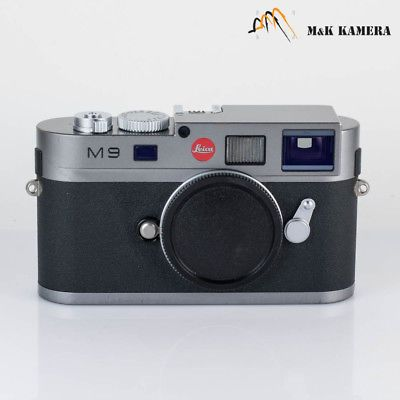 Leica M9 Steel Grey digital rangefinder camera body CCD just replaced 2017