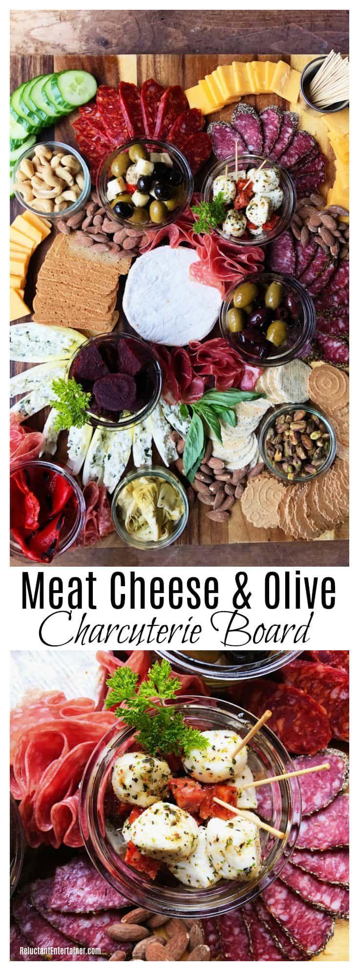 Fleisch Käse & Olive Charcuterie Board