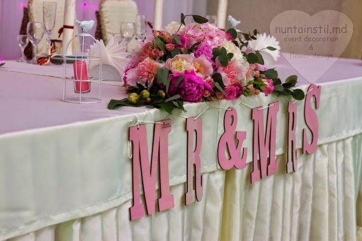 Decorarea pentru nuntă în gama coloristică roz cu bujori și eucalipt - Оформление для свадьбы в розовых тонах с пеонами и эвкалиптом