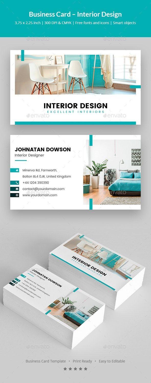 Business Card Interior Design By Artbart Graphicriver Interior Designer Business Card Design Business Card Ideas Visiting Card Design