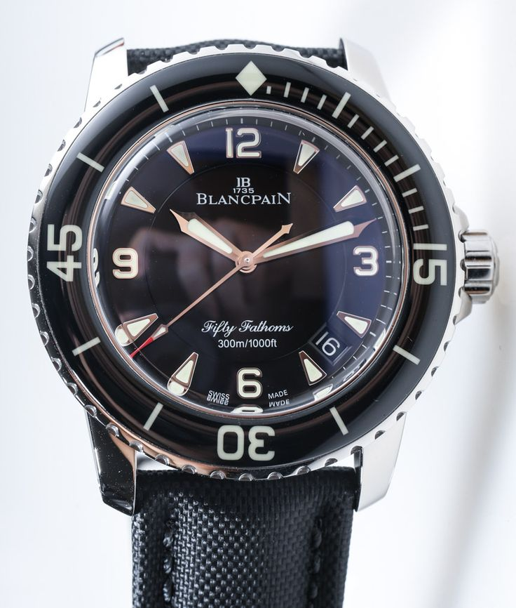 When I hit the Powerball numbers, I know what my watch splurge is going to be...The  Blancpain-Fifty-Fathoms-4