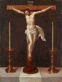 Kruzifix auf einem Altar by Anonymous-Italian-Northern 17